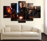HD Printed Star Wars III 5 Piece Canvas