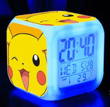 Kids Toys Action Figure LED 7 Colorful flash Touch lights Minion Pokemon Anna Elsa Olaf Clock Action & Toy Figures Boys