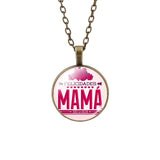 2015 Trendy Silver Long Chain Necklace Love MAMA Mother's Day Brithday Gift Pendant Necklace For Women Fine Jewelry
