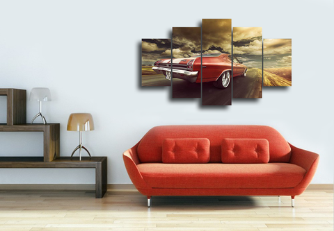 Hd Printed Chevrolet Chevelle Canvas