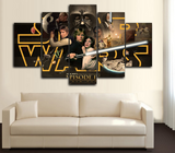 HD Printed Star Wars IV 5 Piece Canvas