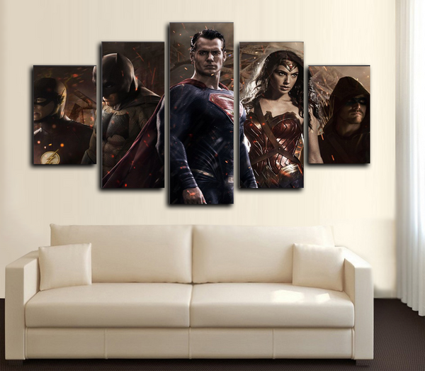 HD Printed Batman vs Superman Dawn of Justice 5 Piece Canvas
