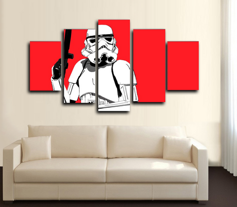 HD PRINTED STORMTROOPER RED 5 PIECES CANVAS PRINT