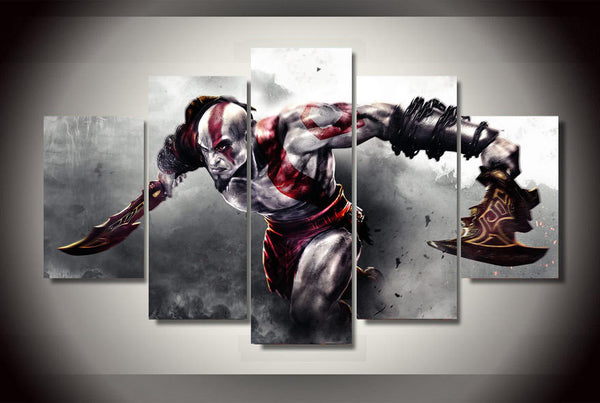 HD Printed Game God of War 5pcs Canvas