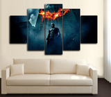 HD Printed Batman Dark Knight 5 Piece Canvas