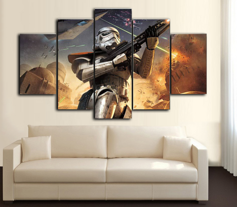 HD Printed Star Wars - Storm Trooper 5 Piece Canvas