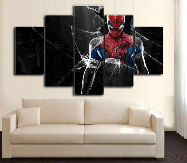 HD Printed Spider Man II 5 Piece Canvas