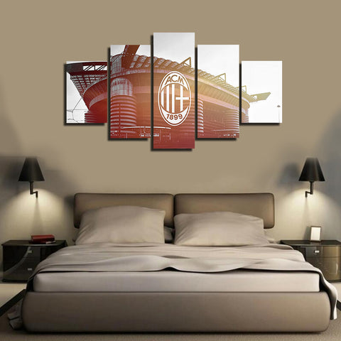 HD Printed San Siro Stadium 5 Pieces Canvas
