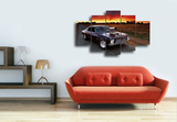Hd Printed Muscle Car Group Poster Picture Canvas