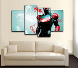 HD PRINTED COMICS IRON MAN GROUP 5 PIECES CANVAS