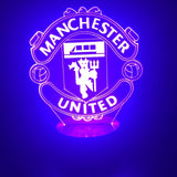 3D FC Manchester United Led Desk Lamp Flash Changing Colour