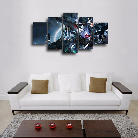 HD Printed Gundam - Mobile Suit Gundam SEED DESTINY 5 Pieces Canvas