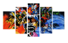 HD Printed Mobile Fighter G Gundam 5 Pieces Canvas