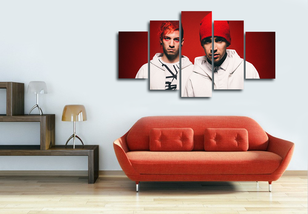 HD Printed Twenty One Pilots 5 Pieces Canvas