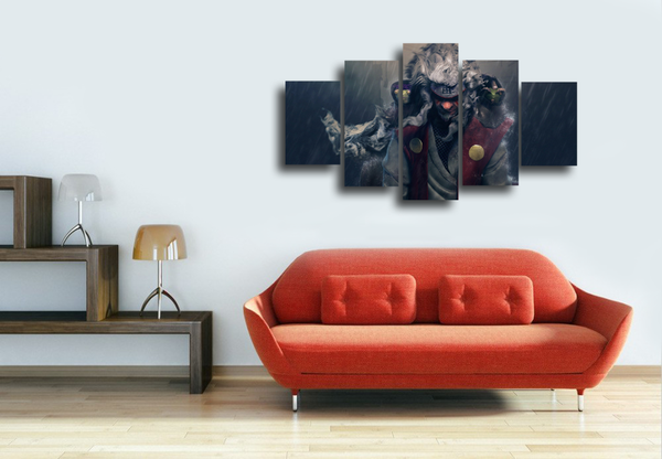 HD Printed Naruto - Jiraiya 5 Pieces Canvas