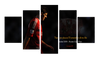 HD Printed Steven Gerrard - Liverpool Legend 5 Pieces Canvas