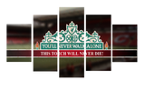 HD Printed Liverpool Football - You'll Never Walk Alone 5 Pieces Canvas