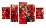 HD Printed Liverpool Champions League 2005 5 Pieces Canvas