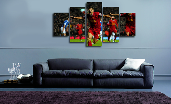 HD Printed Steven Gerrard - Liverpool 5 Pieces Canvas