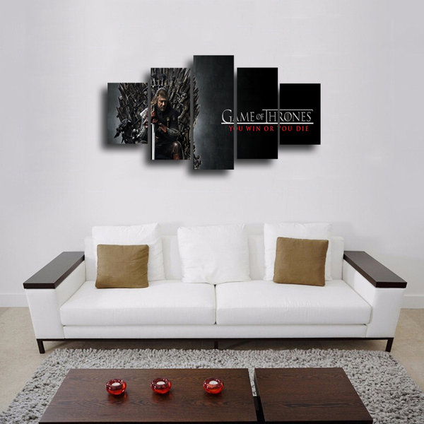 HD Printed Game Of Thrones 5 Pieces Canvas