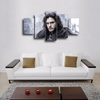 HD Printed Jon Snow Game Of Thrones 5 Pieces Canvas