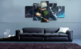 HD Printed Naruto - Kakashi Character 5 Pieces Canvas