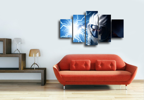 HD Printed Naruto - Kakashi 5 Pieces Canvas