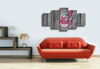 HD Printed Cleveland Indians Baseball Logo 5 Pieces Canvas