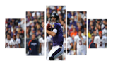 HD Printed Joe Flacco The Ravens 5 Pieces Canvas
