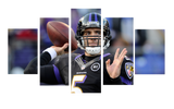 HD Printed Baltimore Ravens - Joe Flacco 5 Pieces Canvas