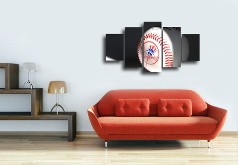HD Printed NY Yankees 5 Pieces Canvas