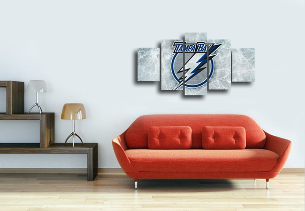 HD Printed Tampa Bay Lightning 5 Pieces Canvas