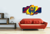HD Printed Barcelona Logo 5 Pieces Canvas