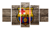 HD Printed FC Barcelona Logo 5 Pieces Canvas