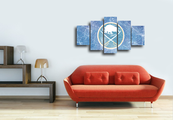 HD Printed Buffalo Sabres Logo 5 Pieces Canvas
