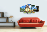 HD Printed My Neighbor Totoro 5 Pieces Canvas