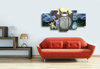 HD Printed Tonari no Totoro 5 Pieces Canvas