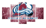 HD Printed Colorado Avalanche Logo 5 Pieces Canvas