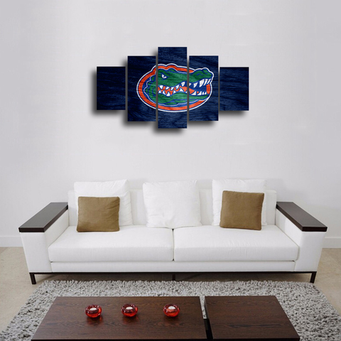 HD Printed Florida Gators Logo 5 Pieces Canvas