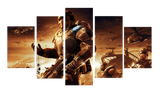 HD Printed Gears Of War Game Battle 5 Pieces Canvas