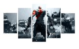 HD Printed God Of War 2014 5 Pieces Canvas