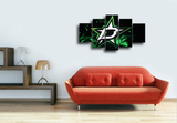 HD Printed Dallas Stars Logo 5 Piece Canvas