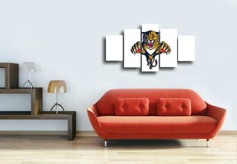 HD Printed Florida Panthers 5 Piece Canvas