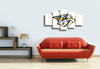 HD Printed Nashville Predators 5 Piece Canvas