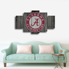 HD Printed Alabama Football Logo 5 Pieces Canvas