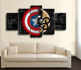 HD PRINTED CAPTAIN AMERICA COMICS CANVAS PRINT