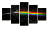 HD Printed Pink Floyd - The Dark Side of the Moon B 5 Pieces Canvas