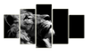 HD Printed Lion 5 Pieces Canvas