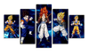 HD Printed Gogeta 5 Pieces Canvas