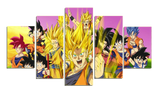 HD Printed Dragon Ball Super 5 Pieces Canvas